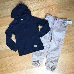NWT Oshkosh Navy Hooded Long Sleeve And Joggers